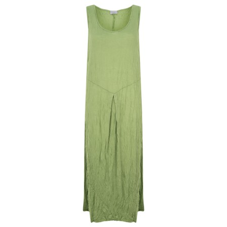 Thing Sleeveless Easyfit Crinkle Dress - Green