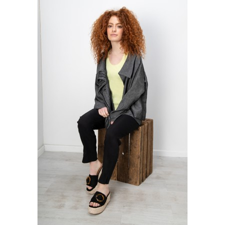 Crea Concept Stripe Detail Linen Jacket - Black
