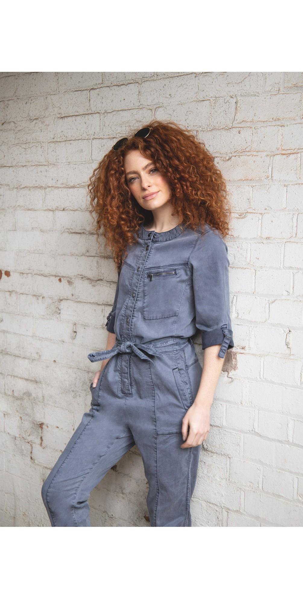 Stretch Tencel Cotton Blend Boiler Suit main image