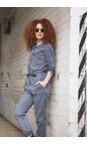 Sandwich Clothing Blue Grey Stretch Tencel Cotton Blend Boiler Suit