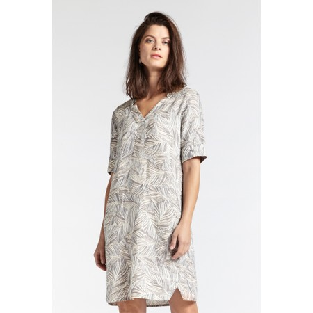 Sandwich Clothing Line Print Leaf Dress - Grey