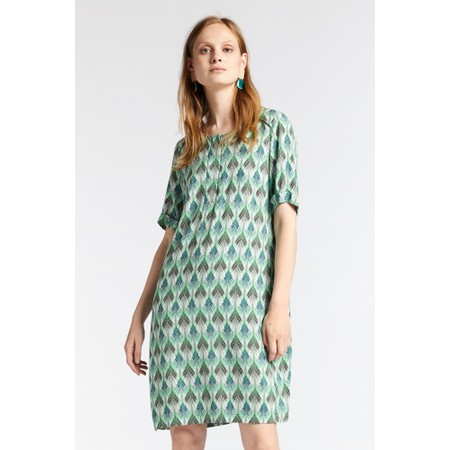 Sandwich Clothing Chevron Leaf Print Dress - Green