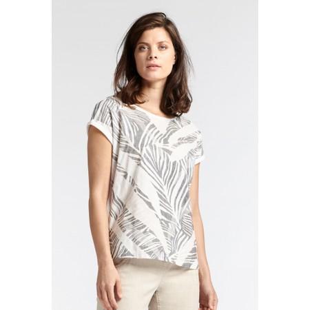 Sandwich Clothing Palm Leaf Print T-Shirt - Grey