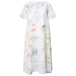 Sahara Summer Holiday Flared Linen Dress