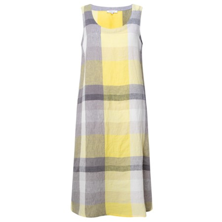Sahara Madras Check Sleeveless Dress - Multicoloured