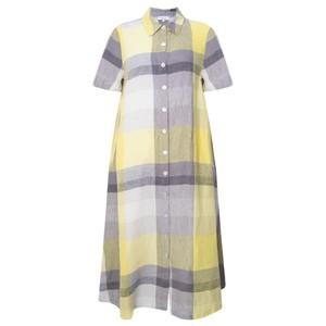 Sahara Madras Check Shirt Linen Dress