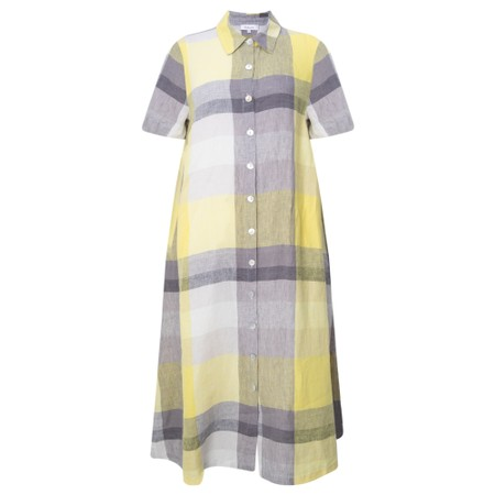 Sahara Madras Check Shirt Linen Dress - Multicoloured