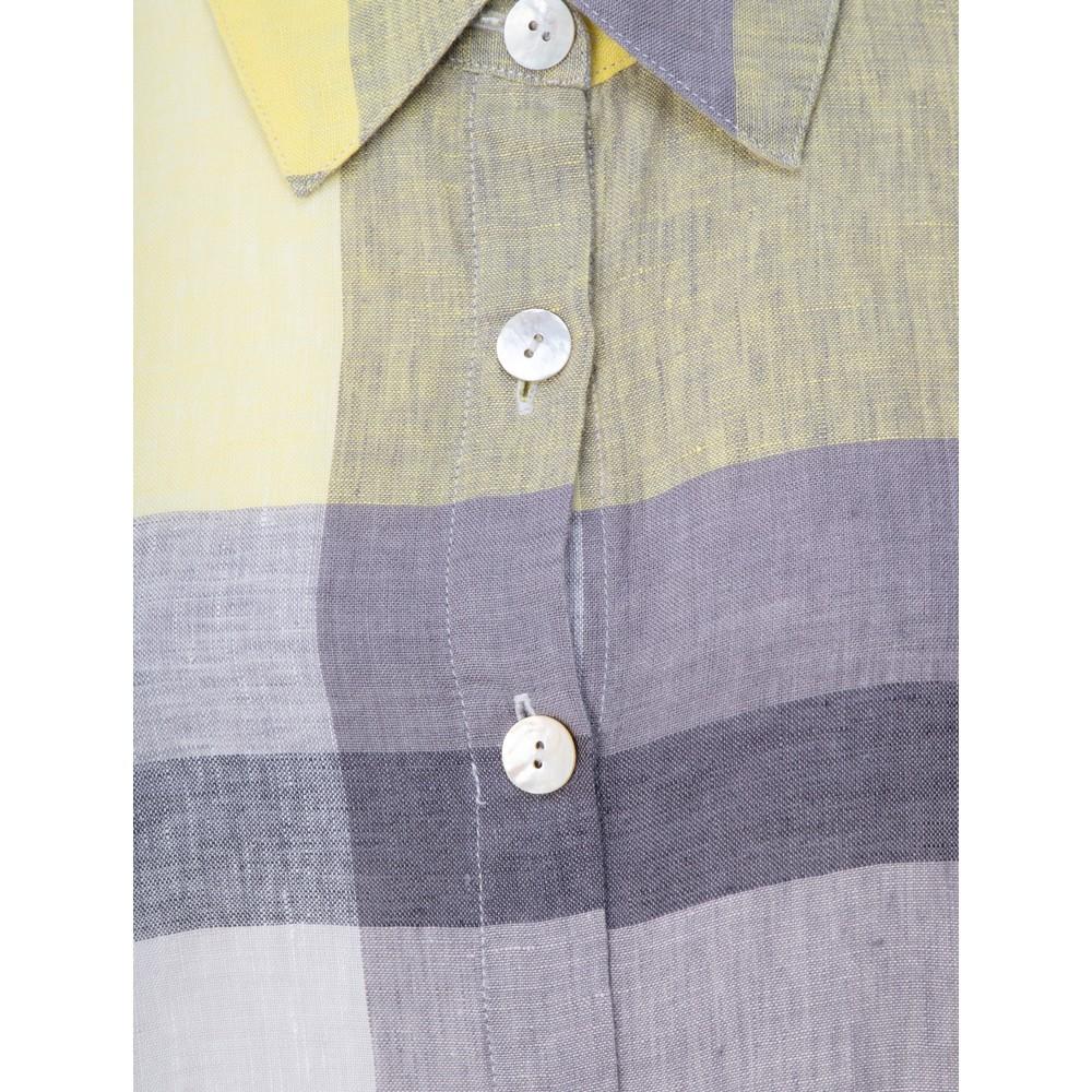 Sahara Madras Check Shirt Linen Dress Multi