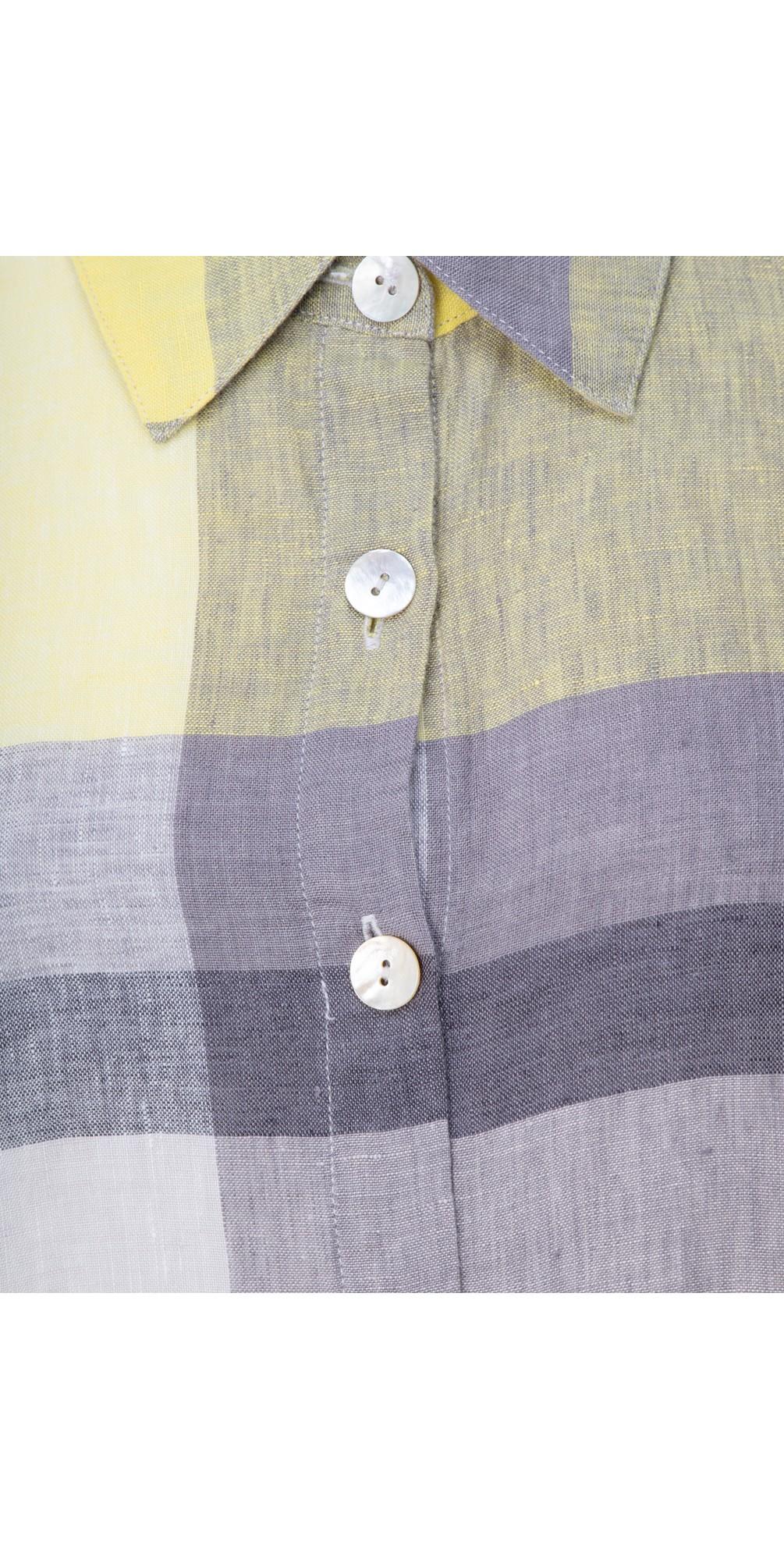 Madras Check Shirt Linen Dress main image