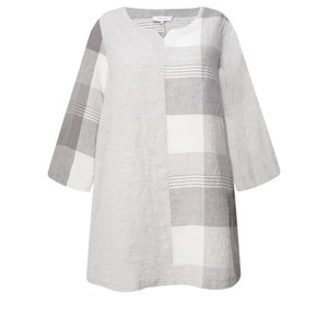 Sahara Giant Check Patched Linen Tunic
