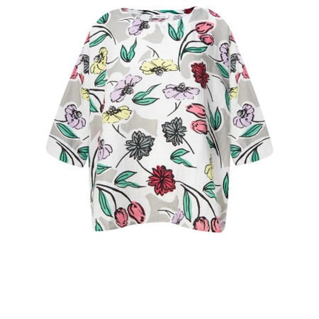 Sahara Sketchbook Flower Boxy Top - Multicoloured