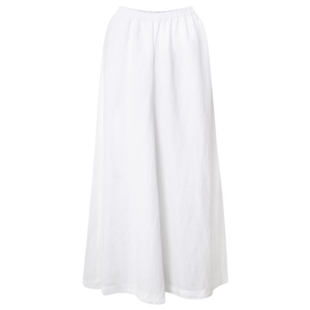 Sahara Linen Oversized Wide Leg Trousers - White