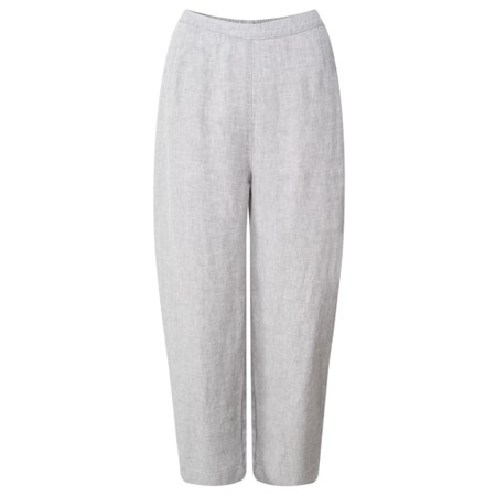Sahara New Cross Dye Linen Trouser - Grey