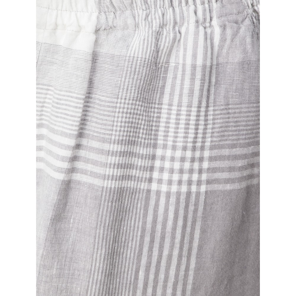 Sahara Giant Check Flare Crop Trouser Smoke / White