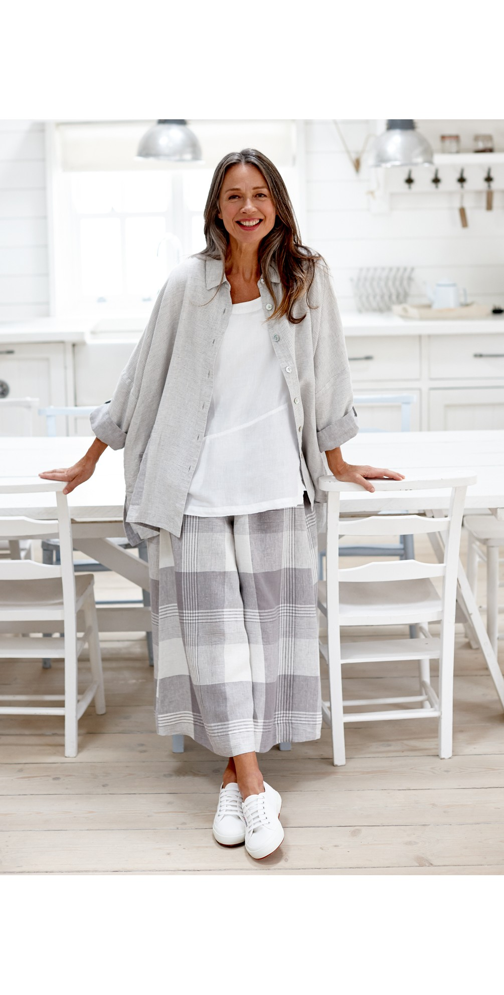Giant Check Flare Crop Trouser main image