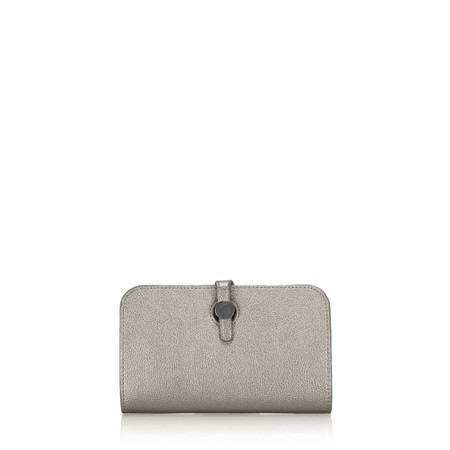 Gemini Label  Meli Pleather Matinee Purse - Grey