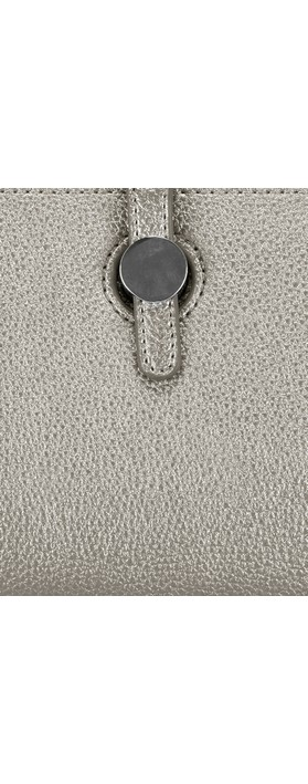 Gemini Label Bags Meli Pleather Matinee Purse Metallic Grey