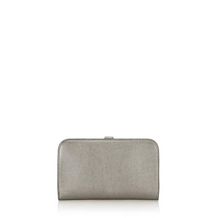Gemini Label Bags Meli Pleather Matinee Purse - Grey