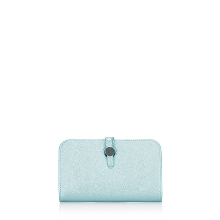 Gemini Label Bags Meli Pleather Matinee Purse - Blue