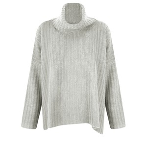 Gemini Label Clothing Ribbed Polo Neck Cashmere Jumper