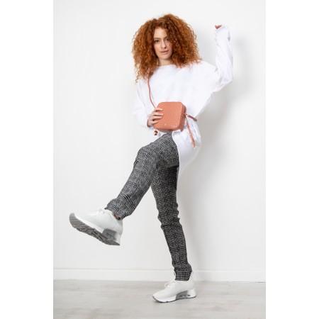 Robell  Holly Smart Check Full Length Trouser - Beige