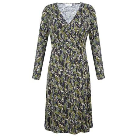 Adini Serpentine Print Serpentine Dress - Green