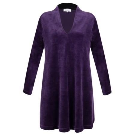Sahara Velvet Jersey V Neck Tunic - Purple