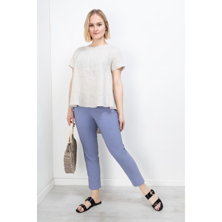 Robell Bella 09 Denim Blue Ankle Length Crop Cuff Trouser - Blue