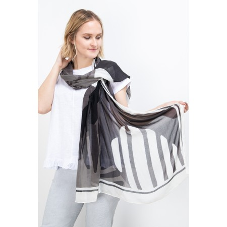 Sandwich Clothing Bold Palm Leaf Scarf - Grey