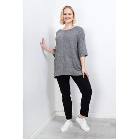 Thing Oversized Two Pocket Slouch Top - Metallic