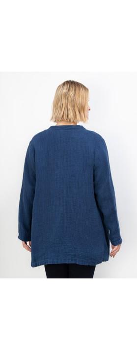 Thing Textured Linen Jacket Denim