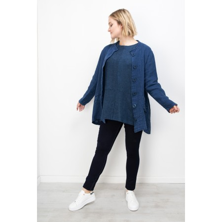 Thing Textured Linen Jacket - Blue