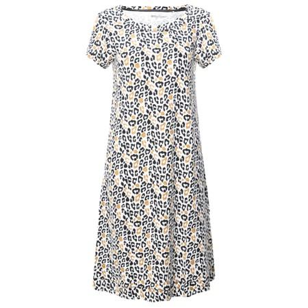 Foil Loop Of The Day Swing Dress - Beige