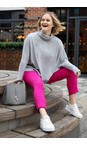 Robell  Orchid Pink 550 Bella 09 Orchid Pink Ankle Length 7/8 Cuff Trouser