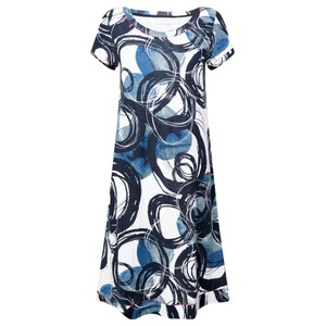 Foil Loop Of The Day Swing Dress