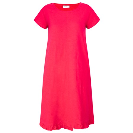Foil The Frill Of It All Tee Dress - Pink