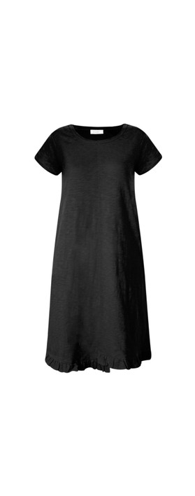 Foil The Frill Of It All Tee Dress Black
