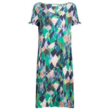 Foil Colour Scheming Dress - Blue