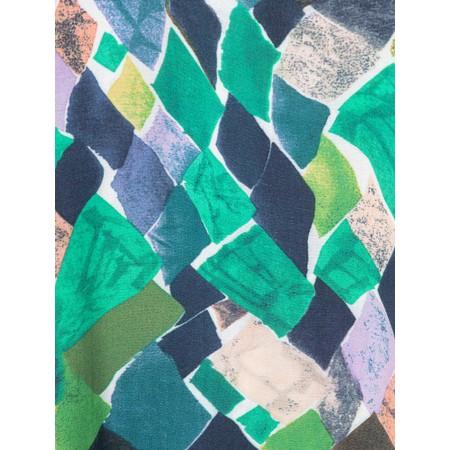 Foil Colour Scheming Dress - Blue
