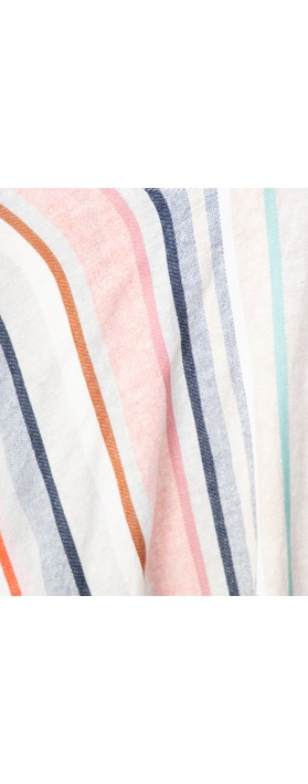 Foil Tipping The Scale Linen Skirt Awning Stripe