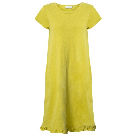 Foil The Frill Of It All Tee Dress - Yellow