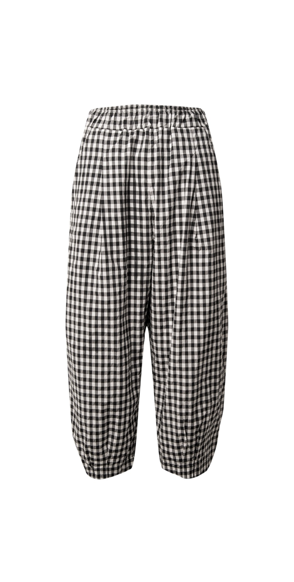 Bianco  Checked Print Trousers main image