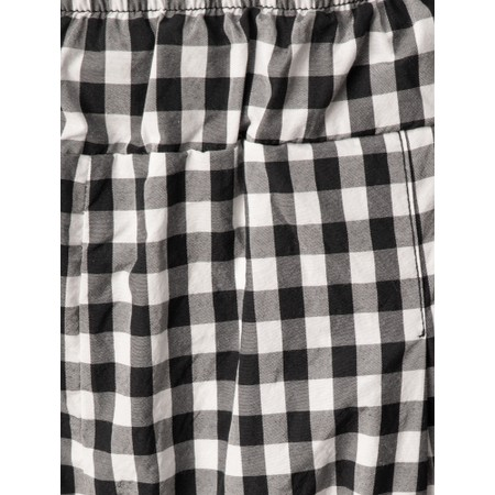 Mama B Bianco  Checked Print Trousers - Black
