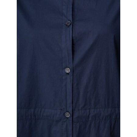 Mama B Thassos Cotton Button Through Shirt Dress - Blue