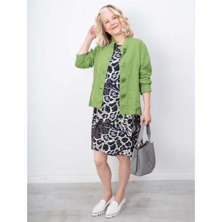 Masai Clothing Nada Animal Print Dress - Green