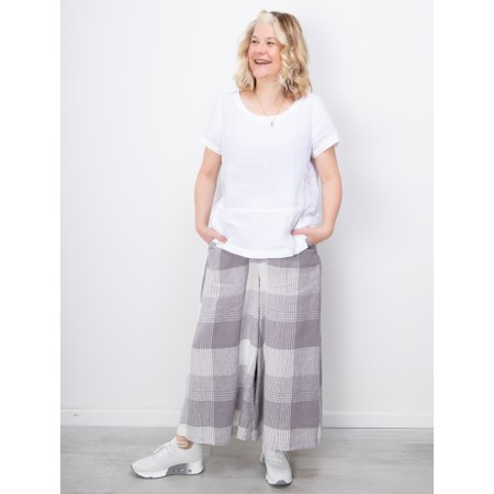 Sahara Giant Check Flare Crop Trouser - Multicoloured