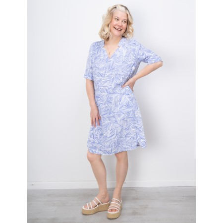 Sandwich Clothing Line Print Leaf Dress - Blue