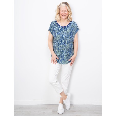 Sandwich Clothing Abstract Print Top - Blue