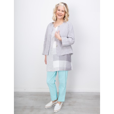 Sahara New Cross Dye Short Linen Jacket - Grey