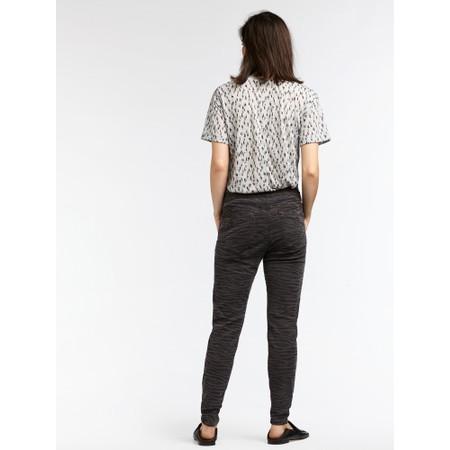 Sandwich Outlet  Zebra Print Casual Trouser - Black